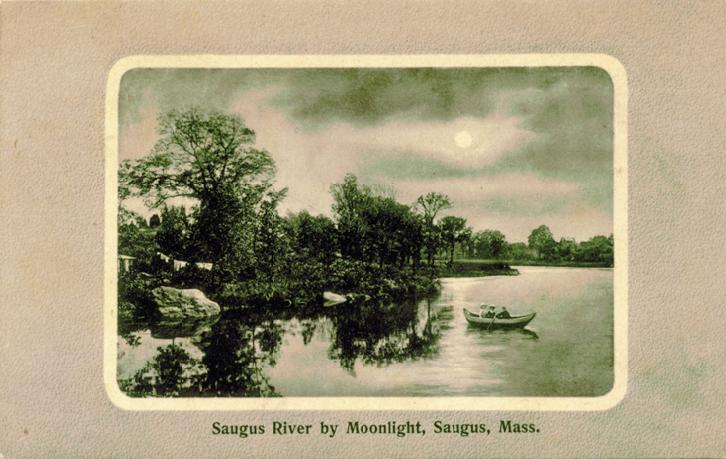 Full moon over the Saugus River