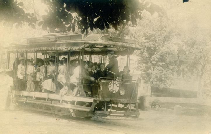 A trolley in Cliftondale
